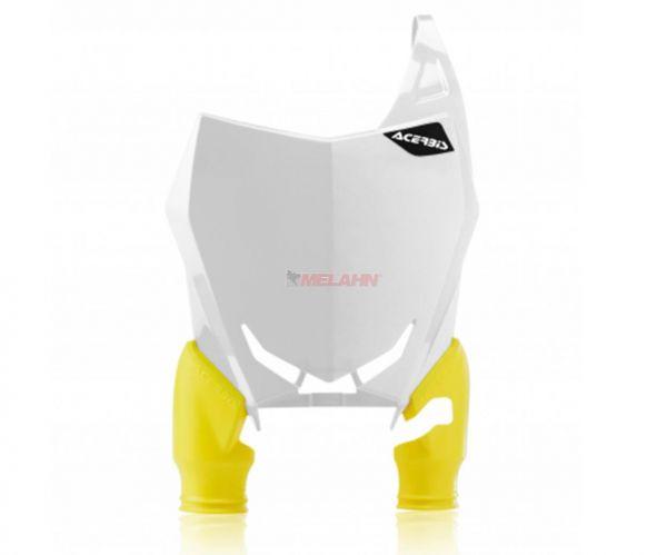 ACERBIS Starttafel: Raptor, weiß/gelb, RMZ 250 19- / 450 18-