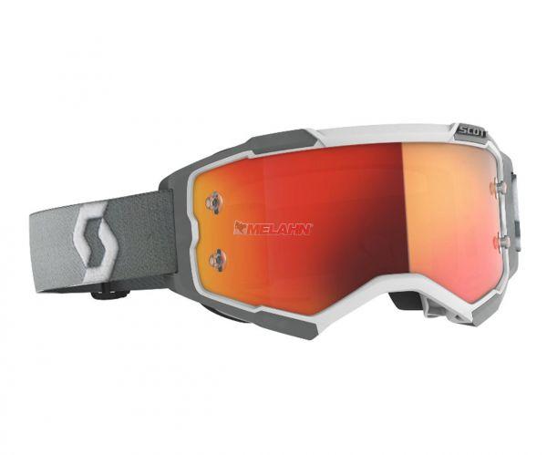 SCOTT Brille: Fury, grau/weiß, orange verspiegelt