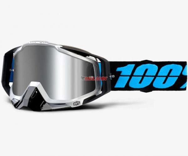 100% Racecraft Plus Daffed Goggle Motocross MTB MX Enduro Cross Brille, weiß (verspiegelt)