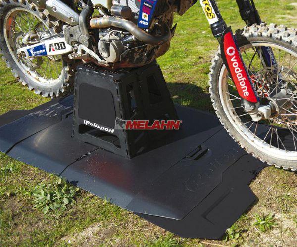 POLISPORT Unterlage: Motopad Bike Mat, schwarz