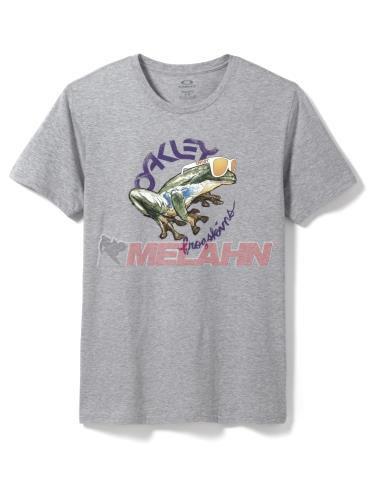 OAKLEY T-Shirt: Rock the Frogskins, grau