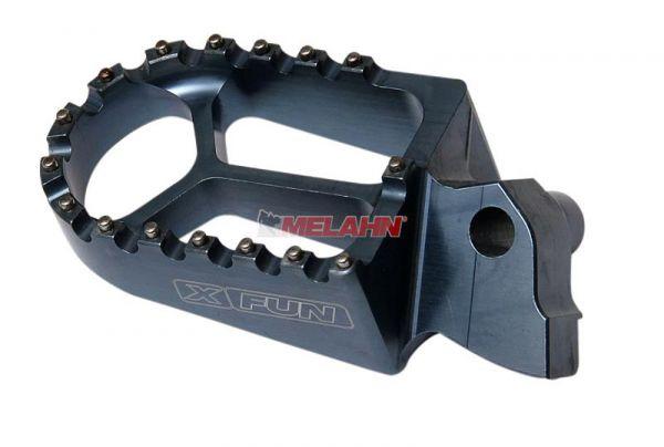 X-FUN Aluminium-Fußrasten (Paar) CR/CRF 02-, graphit
