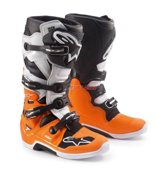 ALPINESTARS Stiefel: KTM Tech 7, weiß/orange/sw