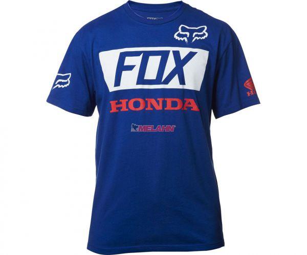 FOX T-Shirt: Honda, blau