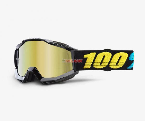 100% Brille: Accuri Virgo, schwarz/gelb gold verspiegelt