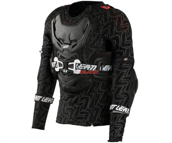 LEATT Kids Protektorenhemd: Body Protector 5.5 Junior, schwarz