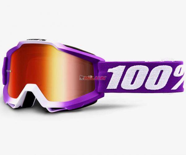 100% Kids Brille: Framboise, pink/weiß