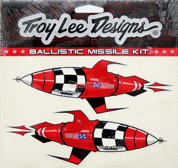 TROY LEE DESIGNS Aufkleber-Kit: Ballistic Missile, rot