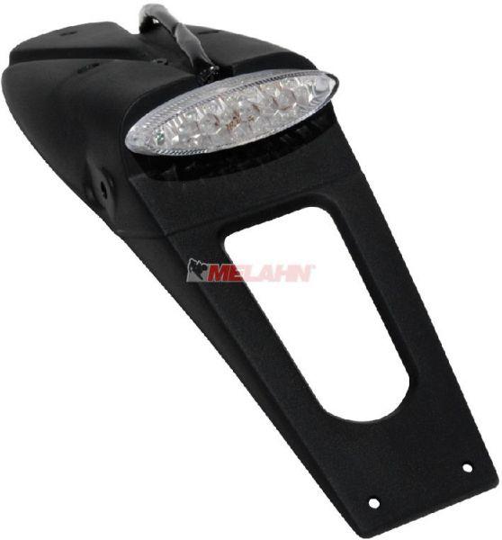 UFO LED-Rücklicht mit Träger, schwarz, weiß