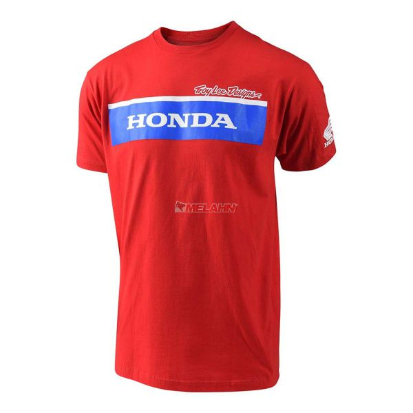 TROY LEE DESIGNS Honda Wing Block Tee, rot