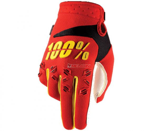 100% Kids Handschuh: Airmatic, rot/gelb