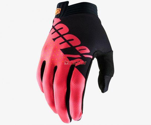 100% Handschuh: I-Track, schwarz/rot