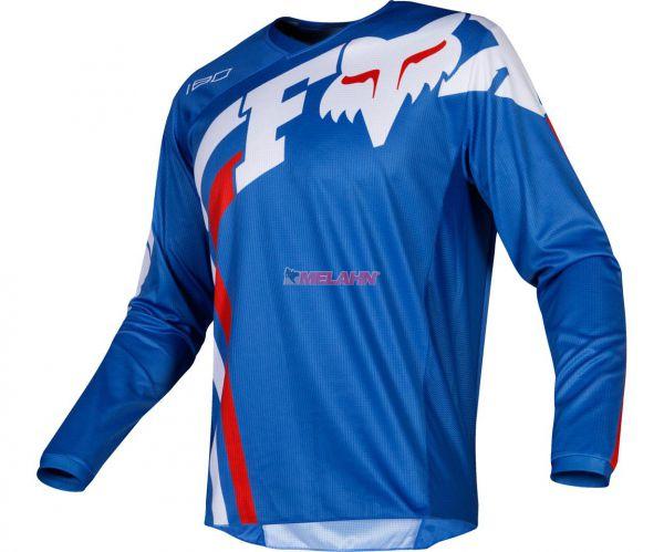 FOX Youth Jersey: 180 Cota, blau/weiß/rot