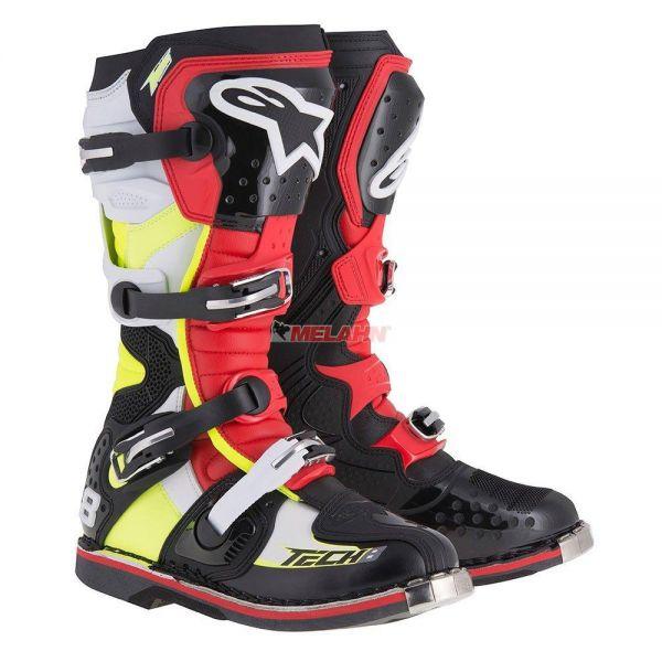 ALPINESTARS Stiefel: Tech 8 RS, schwarz/rot/gelb