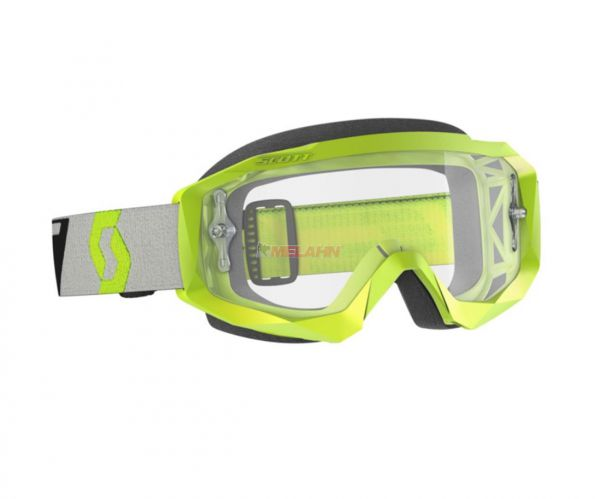 SCOTT Brille: Hustle X MX, neon gelb/grau, klares Glas