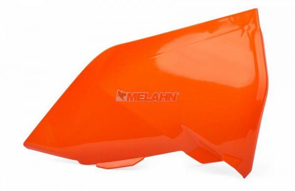 POLISPORT Luftfilterkastendeckel links, KTM SX 19- / EXC 20-, orange