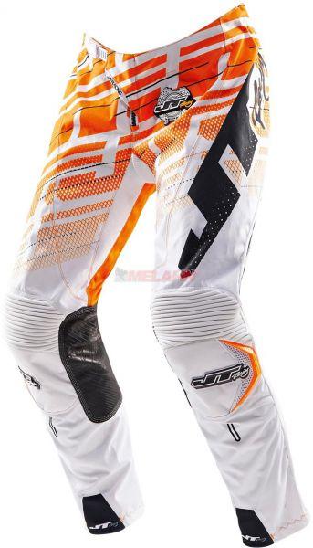 JT-RACING Hose: Hyper Lite, weiß/orange
