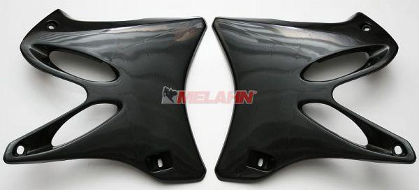 UFO Spoiler (Paar) Kühlerverkleidung YZ 125/250 02-14, schwarz