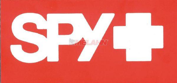 SPY Aufkleber: 11,5x5,5cm, orange/weiß