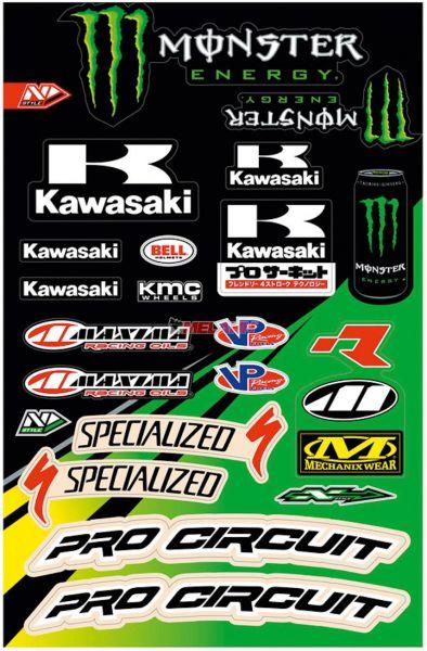 N Style Aufkleber Kit Kawasaki Monster 24 Tlg