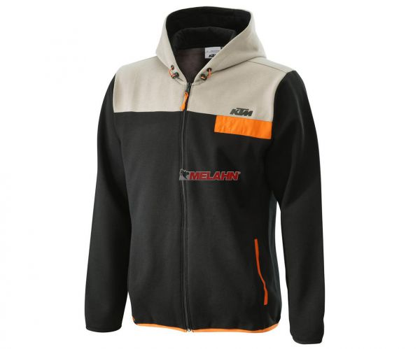 KTM Zip-Hoodie: Pure, schwarz/beige/orange