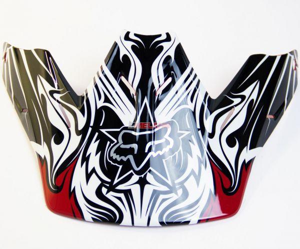 FOX Helmschirm: Visor V3 Encore II 08, schwarz/rot