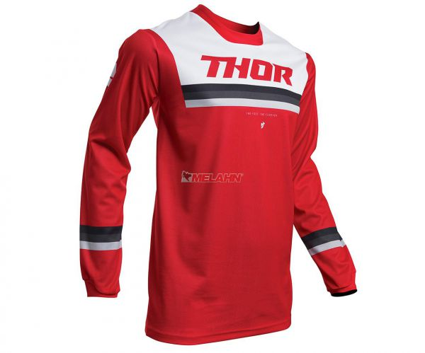 THOR Jersey: Pulse Pinner, rot/weiß