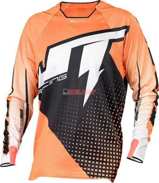 JT-RACING Hemd: Hyper Lite Voltage, schwarz/orange