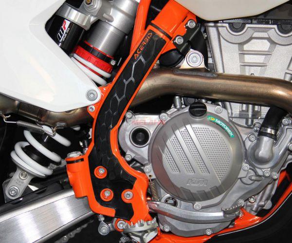 ACERBIS Rahmenschützer (Paar): X-Grip, orange, SX 16-18 / EXC 17-19