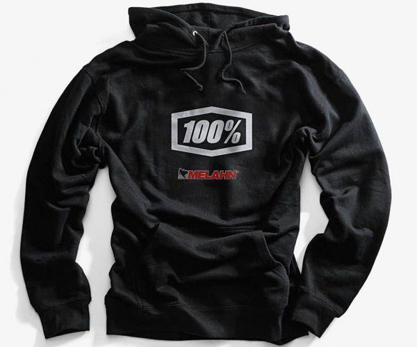 100% Hoody: Corpo, schwarz