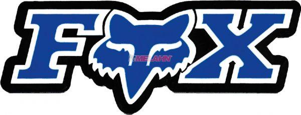FOX Aufkleber: Corporate 7,5x2,5cm, blau