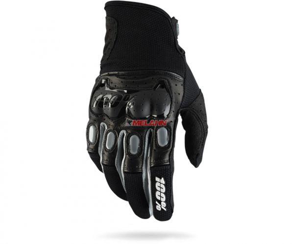 100% Handschuh: Derestricted, schwarz