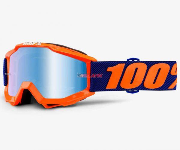 100% Kids Brille: Accuri Origami, orange/blau
