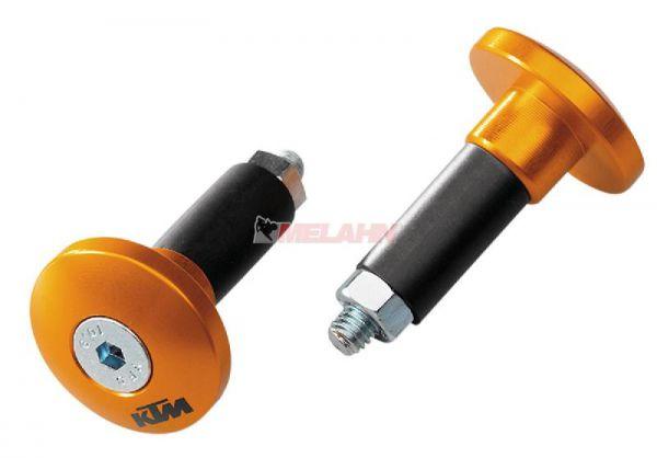 KTM Aluminium-Lenkerenden (Paar), orange