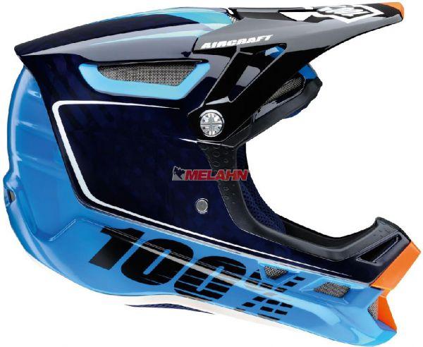 100% Helm: Aircraft, blau
