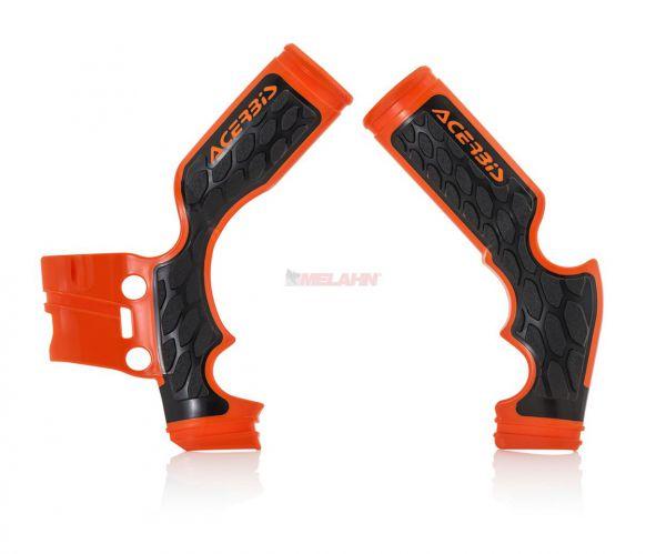 ACERBIS Rahmenschützer (Paar): X-Grip, orange, 65 SX 14-