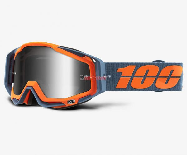 100% Brille: Racecraft Kilroy, grau/orange