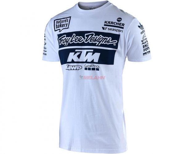 TROY LEE DESIGNS T-Shirt: KTM Team, weiß