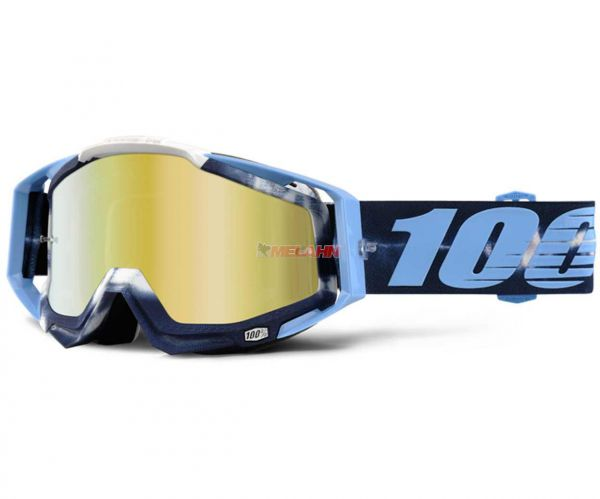 100% Brille: Racecraft Tiedye, blau/hellblau/weiss