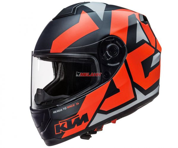 KTM Helm: Factor, schwarz/orange
