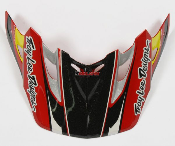 TROY LEE DESIGNS Helmschirm: Visor SE2 Tremor, rot