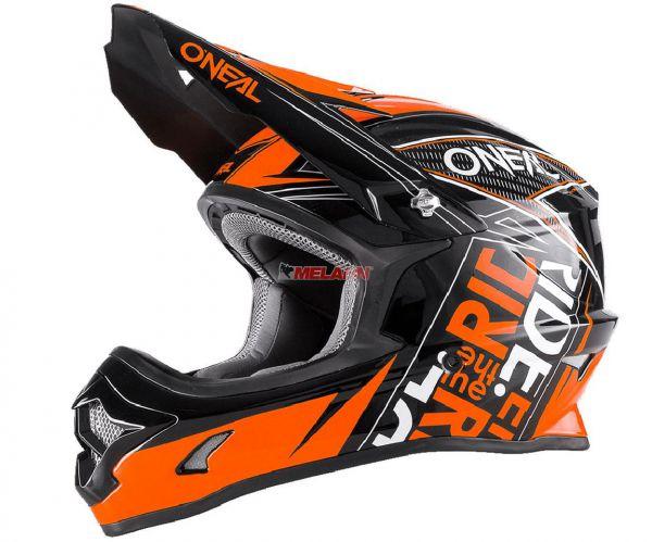 ONEAL Kids Helm: 3Series Fuel, schwarz/orange