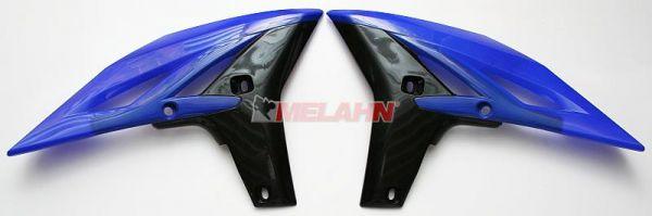 UFO Spoiler (Paar) Kühlerverkleidung YZF 250 2010, schwarz
