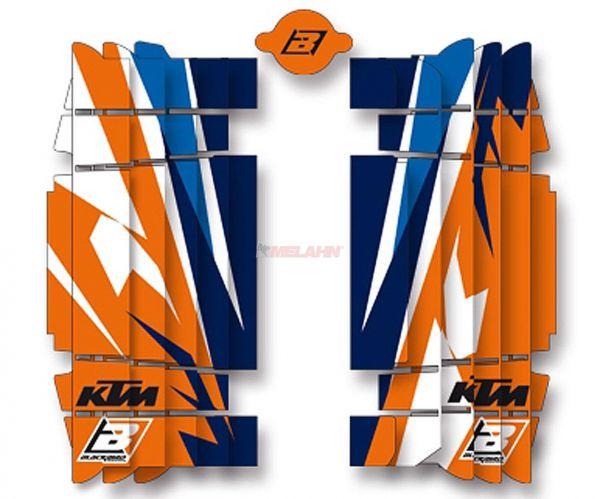 BLACKBIRD Kühlerschutz Aufkleber (Paar) KTM/HVA, Trophy SX 16-18 / EXC 17-19