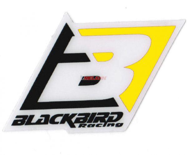 BLACKBIRD Aufkleber: Logo, 6,5x4,5cm, gelb