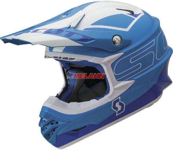 SCOTT Helm: 350 Pro Stratum, blau/weiß