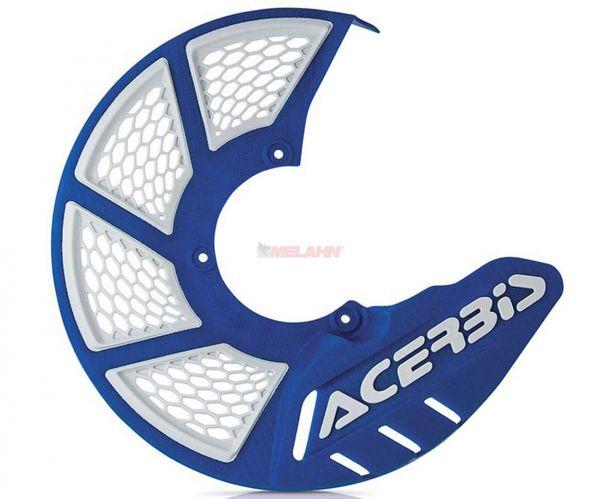 ACERBIS Kunststoff-Bremsscheibenschutz vorne: X-Brake 2.0, blau/weiß
