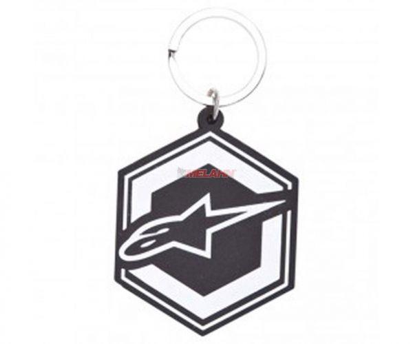 ALPINESTARS Schlüsselanhänger Gummi: Ignition Logo, ca 5x5,8cm