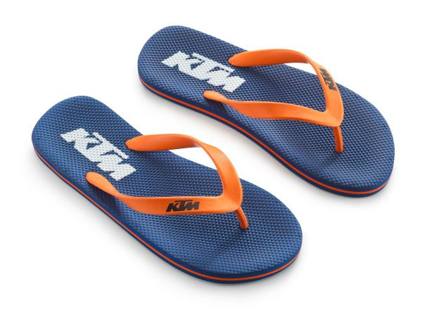KTM Flip Flops: Team Sandals, blau/orange