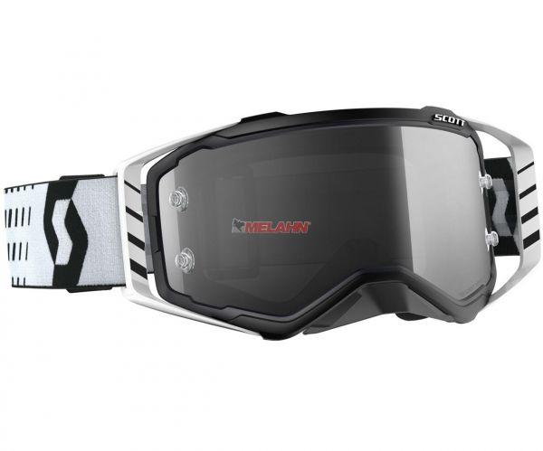 SCOTT Prospect LS Goggle Motocross MTB MX Enduro Cross Brille, schwarz/weiß, selbsttönend